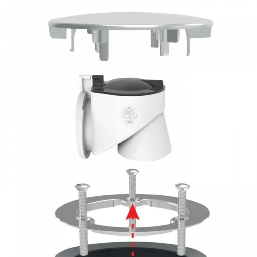 bonde de douche extra plate minime pour receveur 90 mm meuble de salle. Black Bedroom Furniture Sets. Home Design Ideas