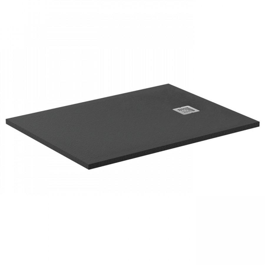 Receveur De Douche Ultra Flat S Noir Intense 100x70 Cm