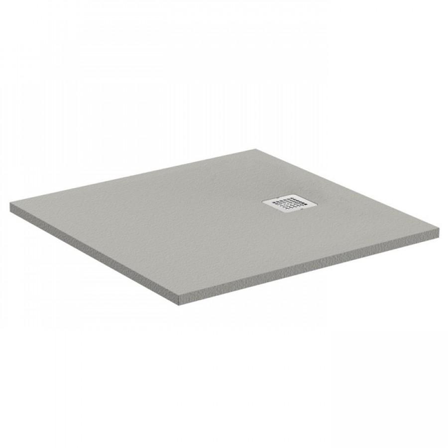 receveur de douche ultra flat s gris b ton 80x80 cm. Black Bedroom Furniture Sets. Home Design Ideas