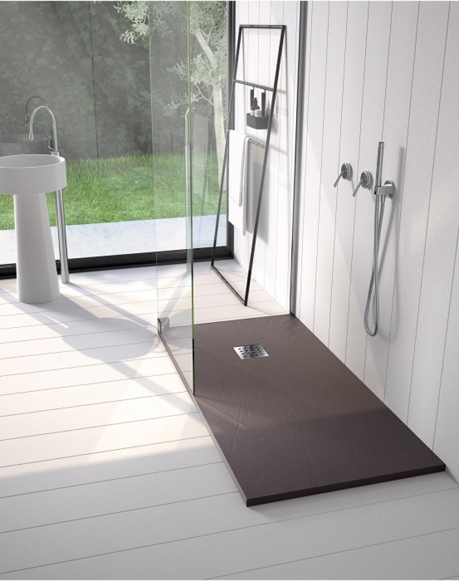 receveur de douche 90x180 pizarra graphite. Black Bedroom Furniture Sets. Home Design Ideas