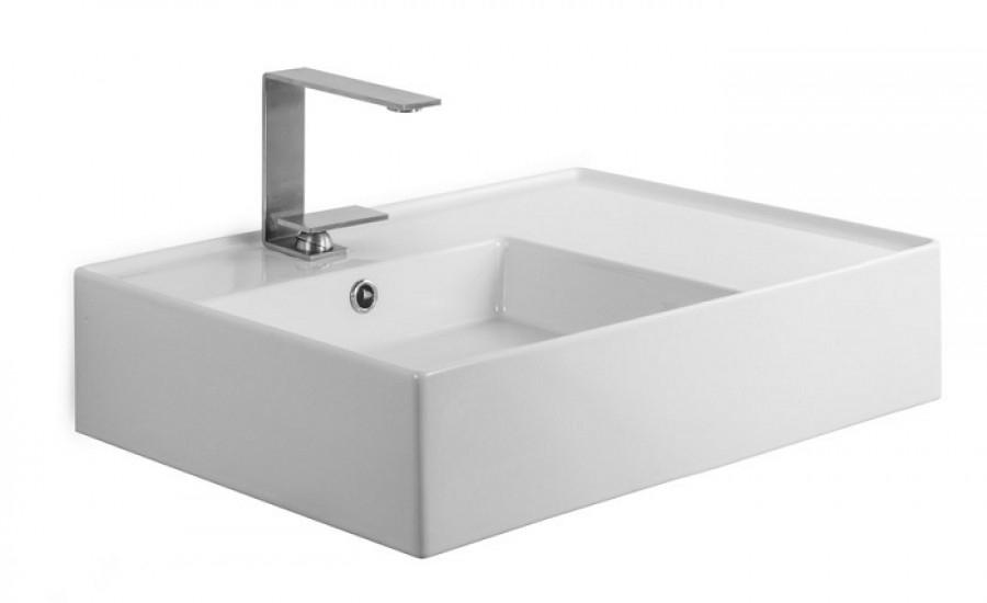 Vasque à poser ou suspendue TEOREMA 2.0 60 cm - Vasque à Gauche