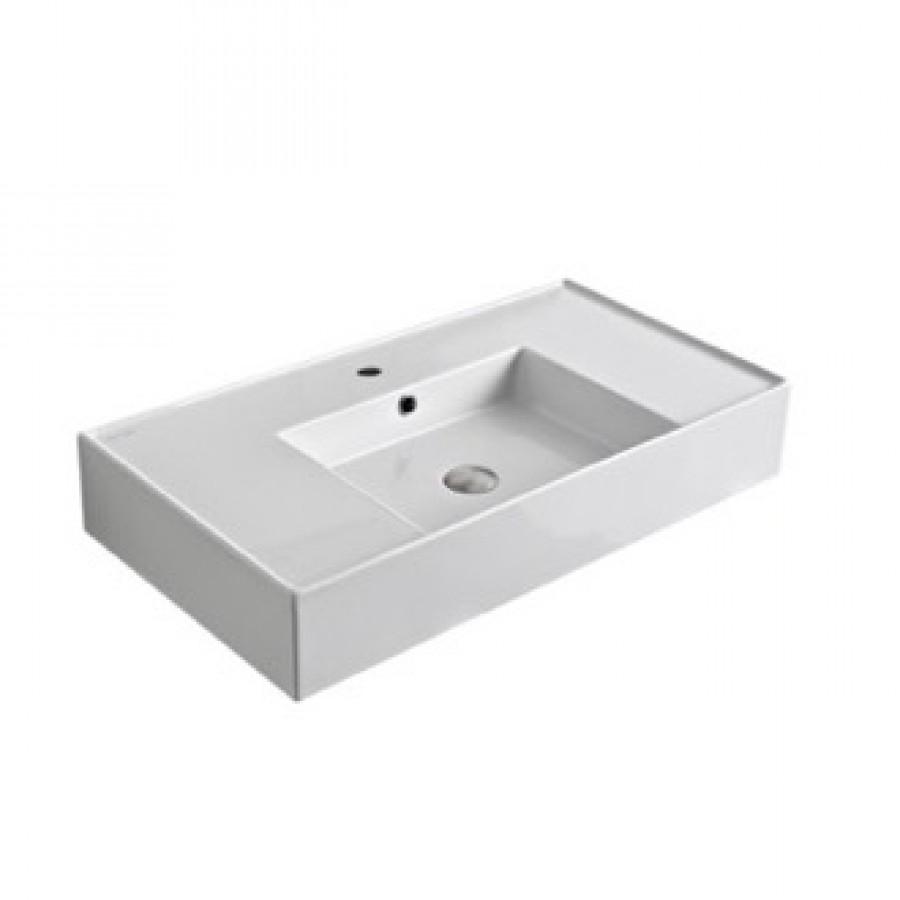 Vasque à poser ou à suspendre TEOREMA 2.0 80 cm - Vasque centrée