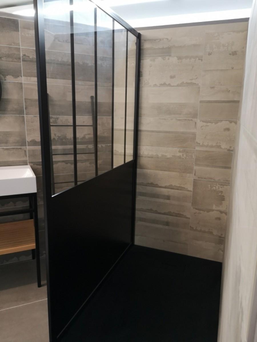 paroi de douche loft steel 100 cm jacuzzi. Black Bedroom Furniture Sets. Home Design Ideas