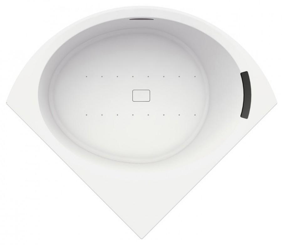 Baignoire d'angle DIVINA C Blanc brillant - Système Hydro Plus
