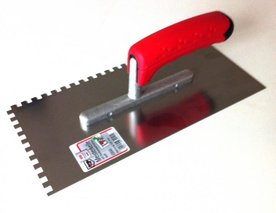 Peigne à colle TOPLINE en métal Dentée 6x6 mm
