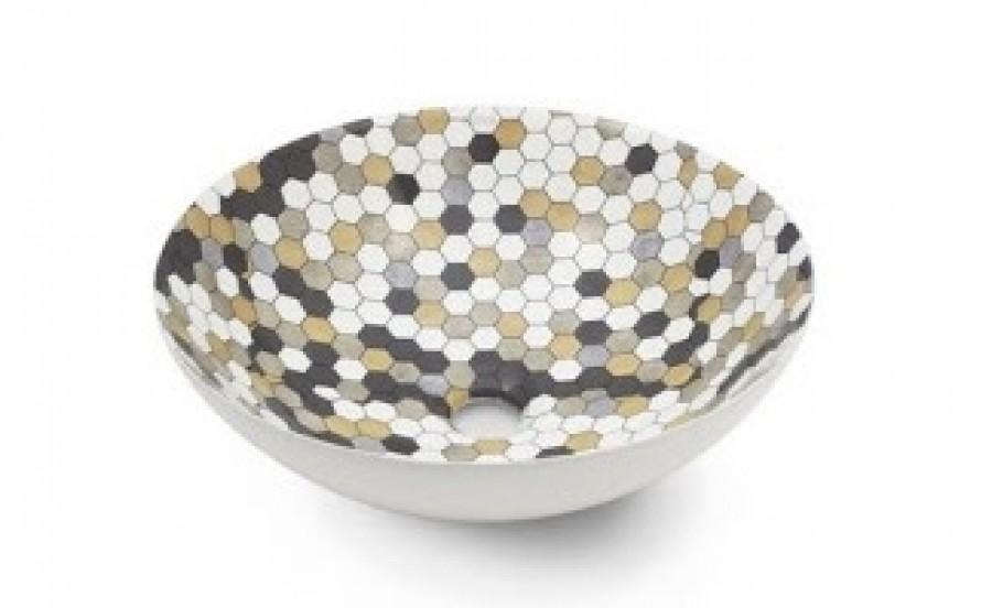 Vasque à poser NEW LYS Hexagon Relieve