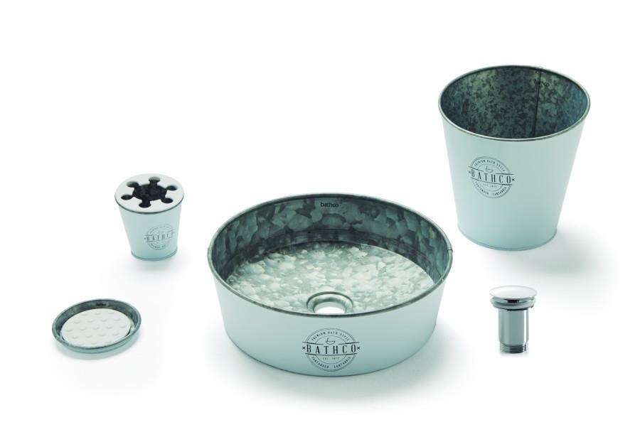 Set de toilette KIOTO en Zinc Blanc