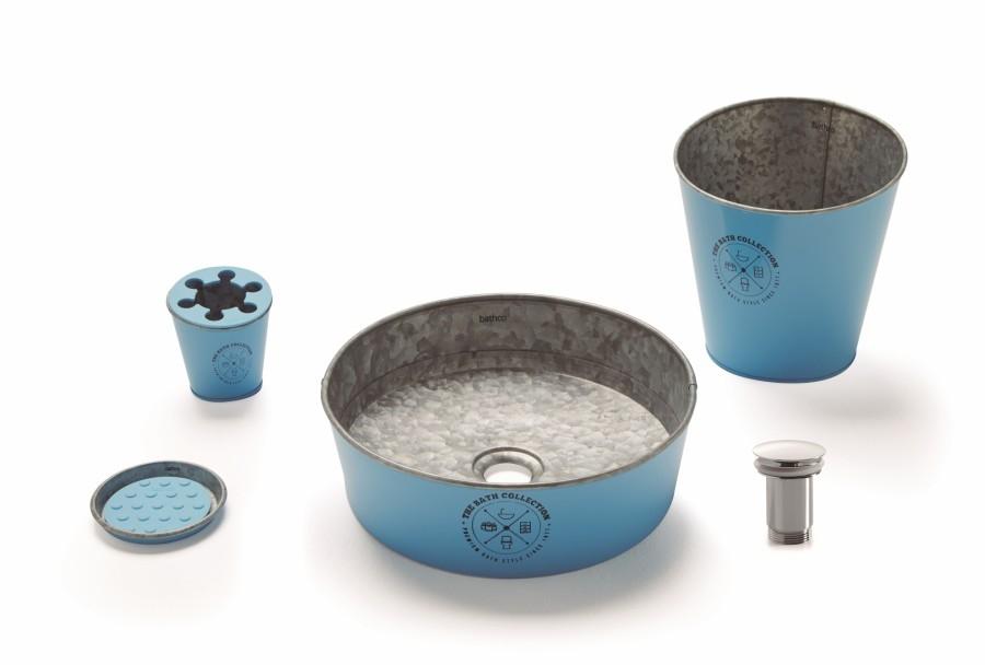 Ensemble de salle de bains KIOTO en Zinc Bleu