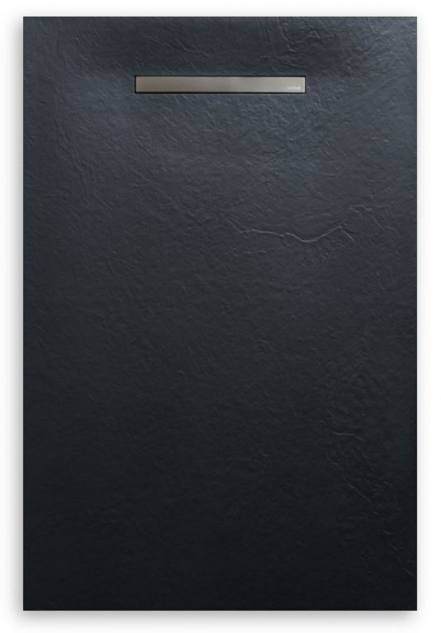Receveur de douche souple SolidSoft LINEAR DRAIN Noir 90x120 cm