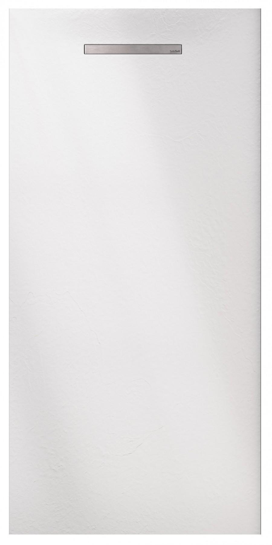 Receveur de douche souple SolidSoft LINEAR DRAIN Blanc 90x120 cm