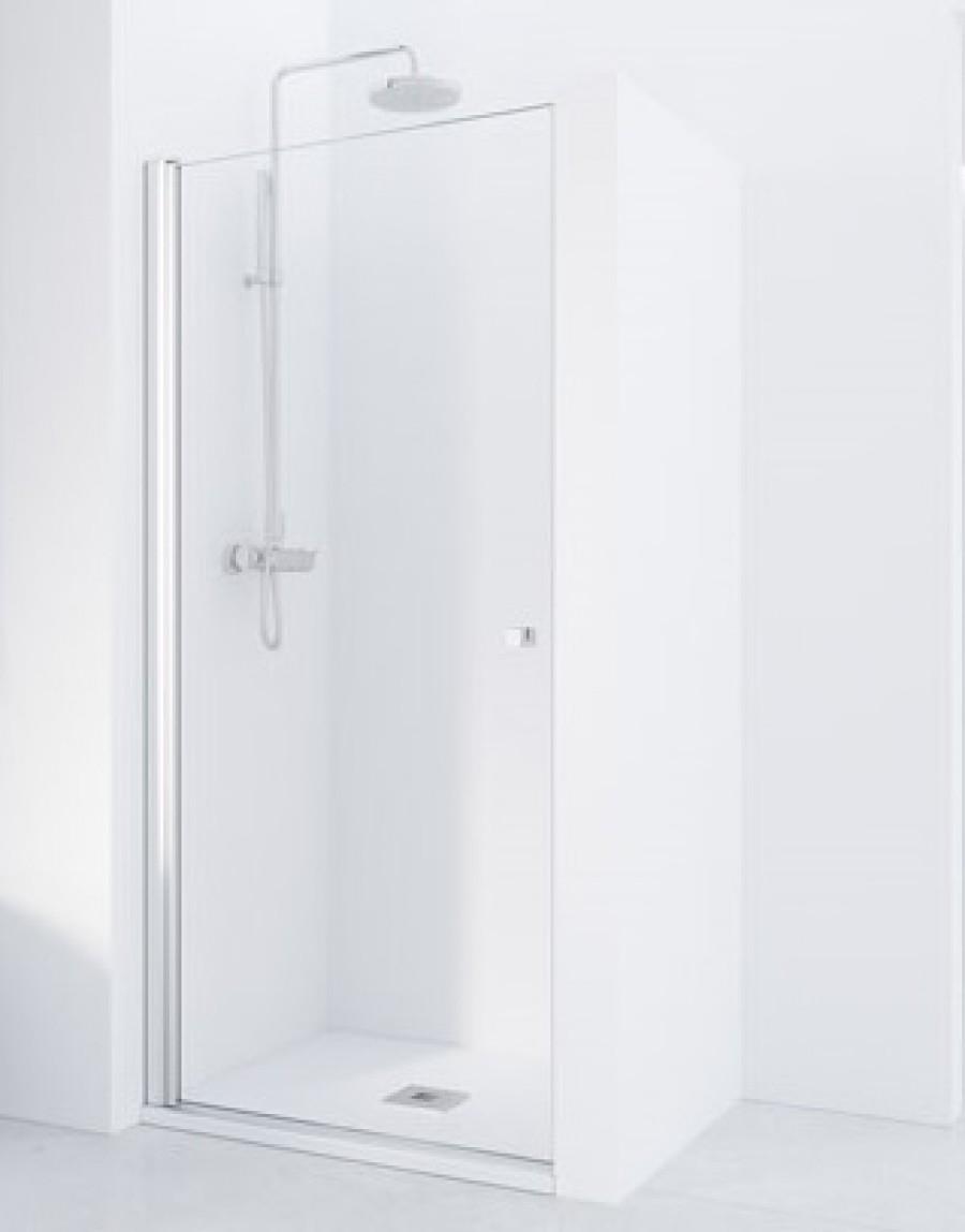 Porte battante en niche HADA - Transparent - Argent HB - 70cm