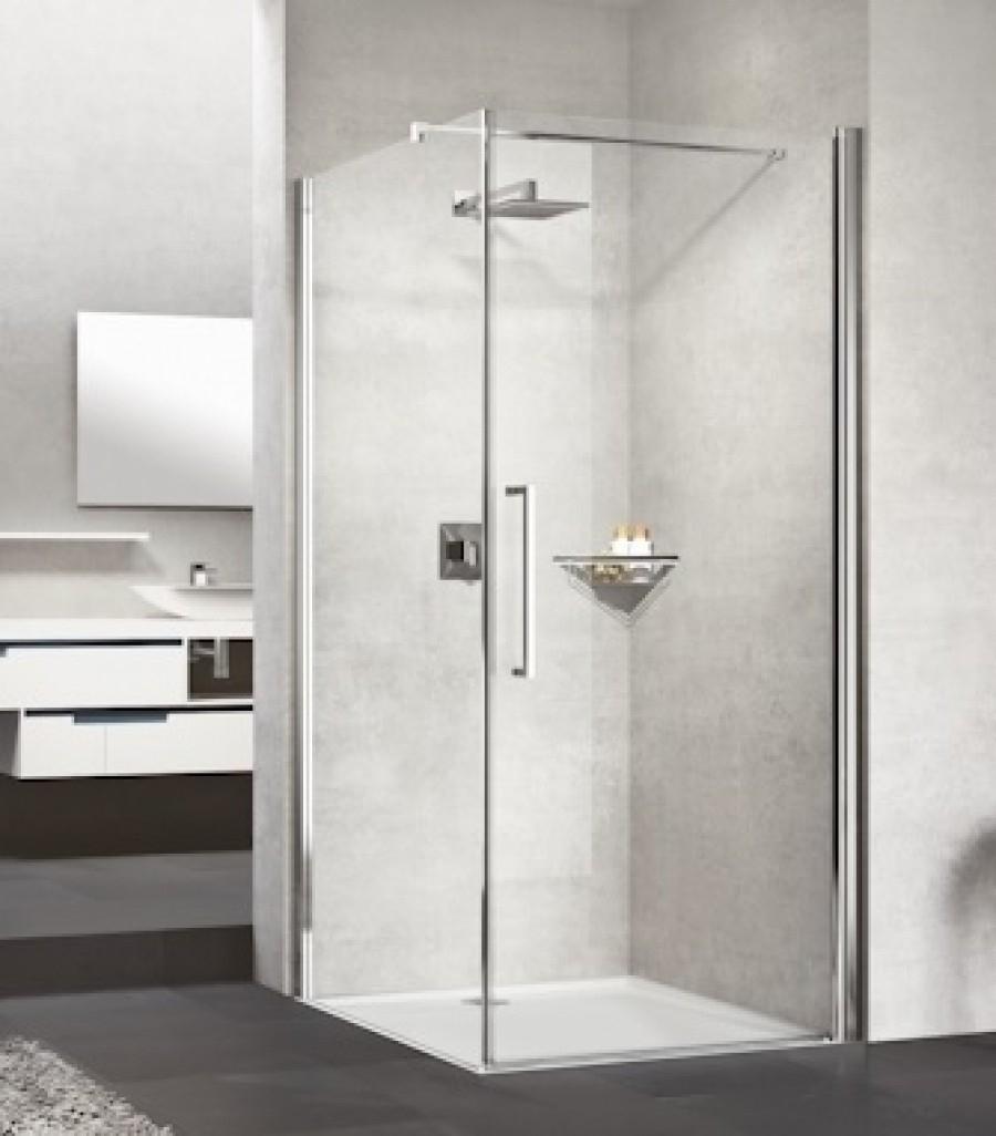 Porte de douche battante YOUNG G Chromé - 80 cm