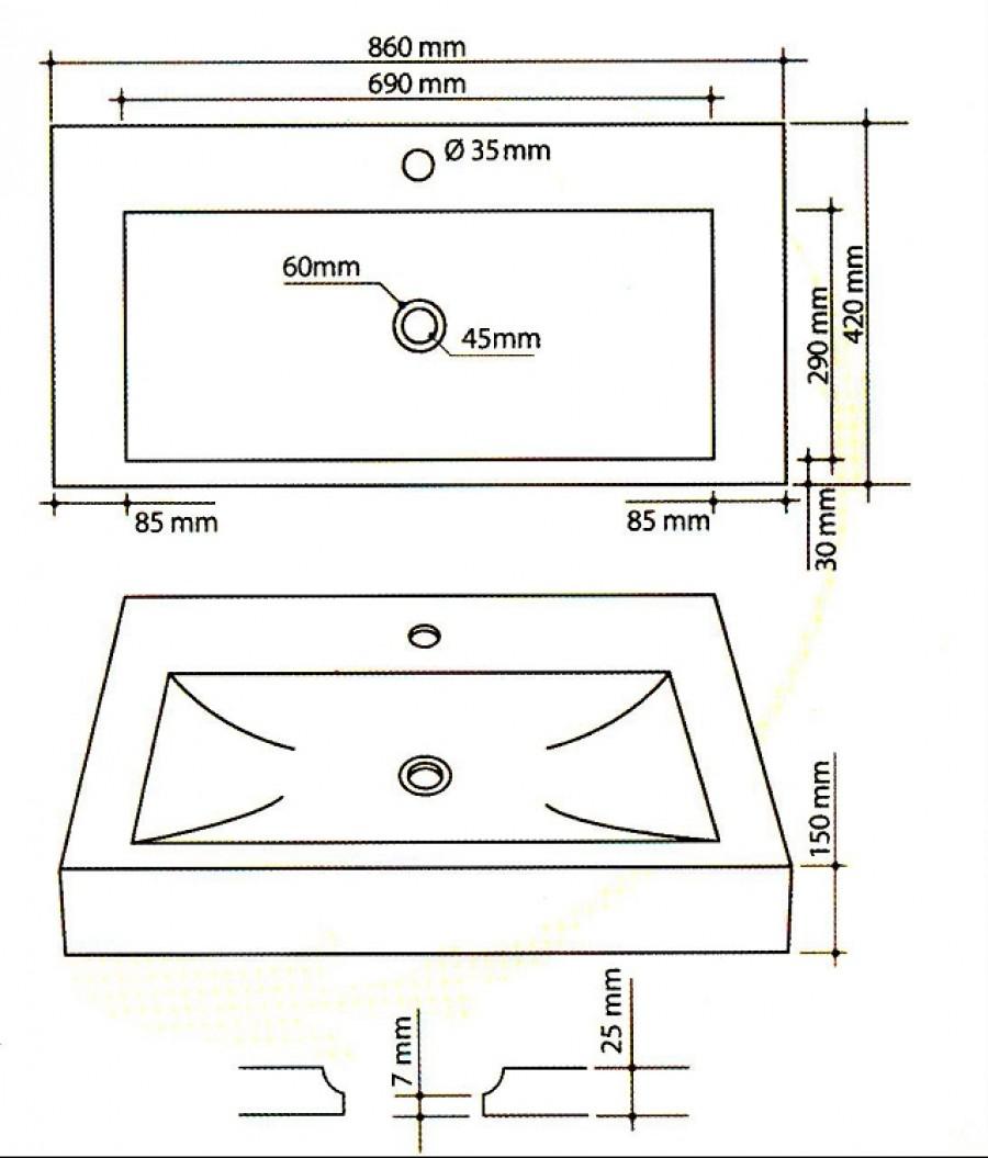 vasque en bois rectangulaire bati orient bobo05 pictures. Black Bedroom Furniture Sets. Home Design Ideas