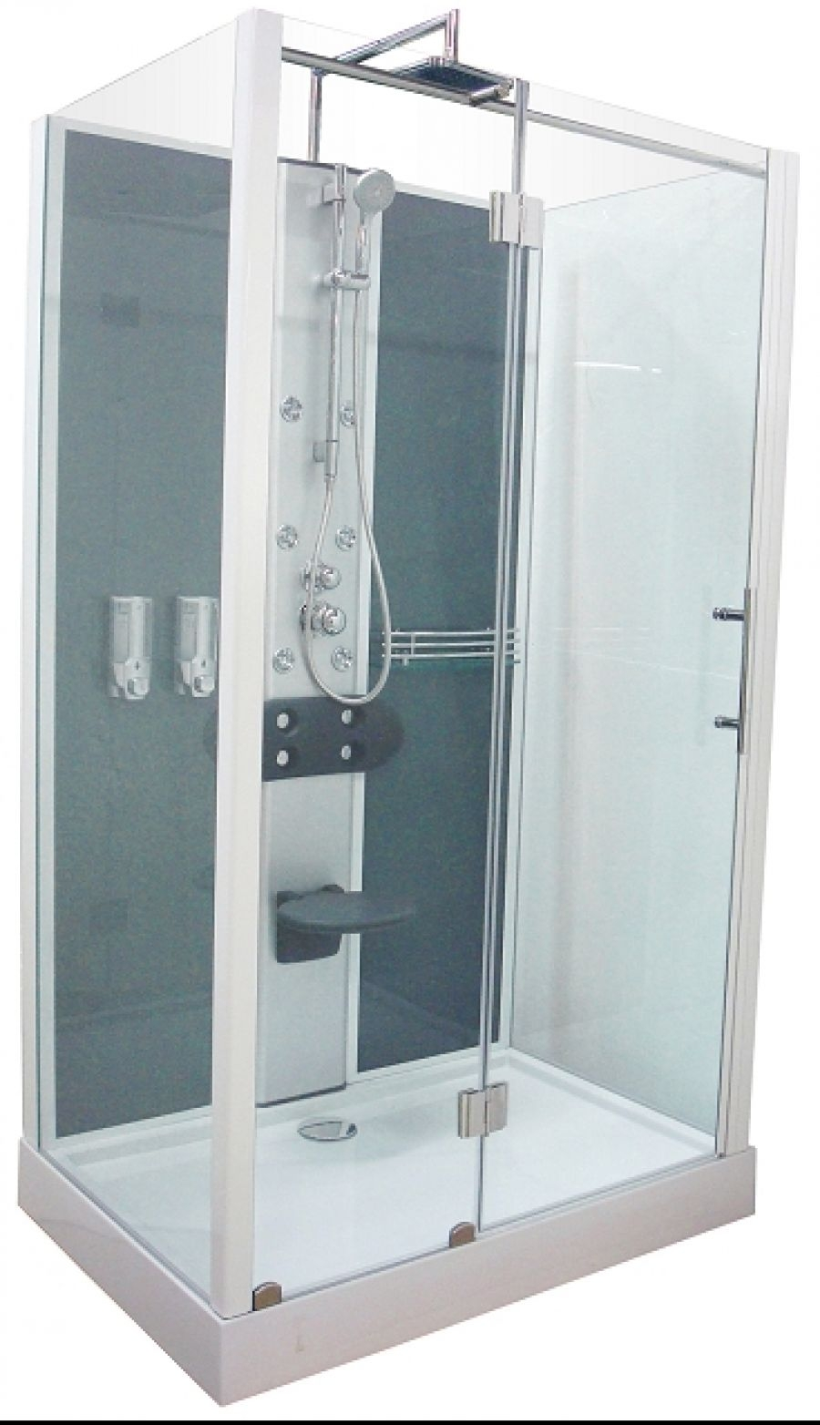 cabine de douche rectangulaire ela hydromassante meuble de salle de bain. Black Bedroom Furniture Sets. Home Design Ideas