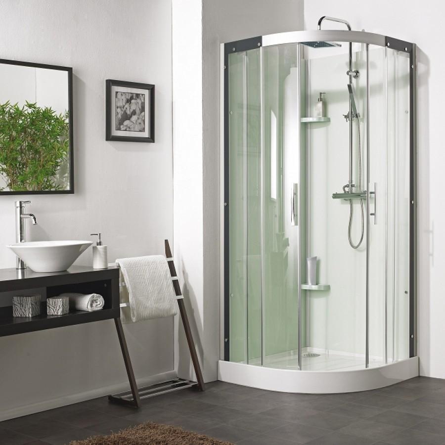cabine de douche flotille 3 90x90 1 4 rond. Black Bedroom Furniture Sets. Home Design Ideas