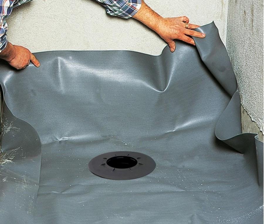 Receveur de douche isotanche chantier 120x120 bonde - Bache etancheite pour douche italienne ...