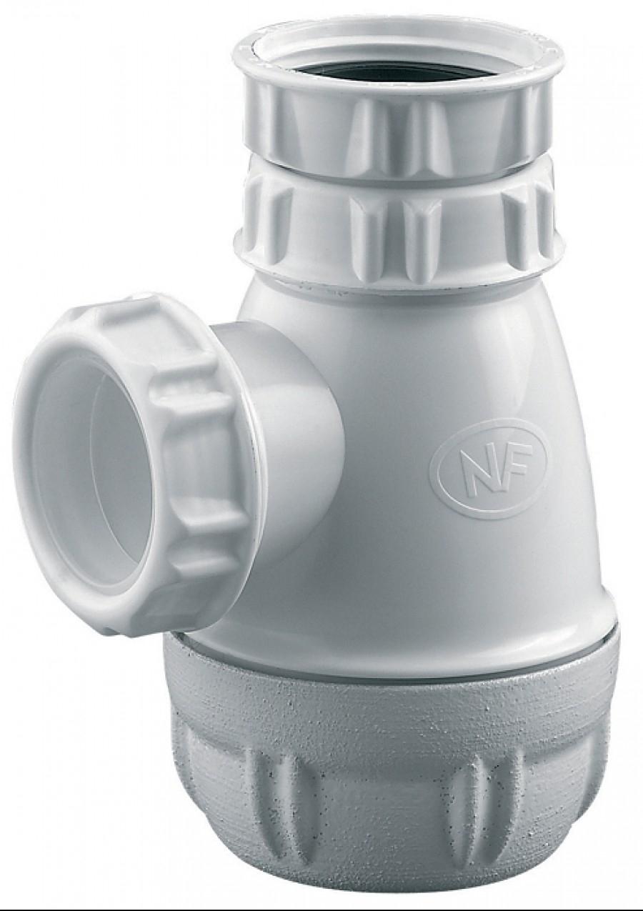 Siphon lavabo plat PVC 6153