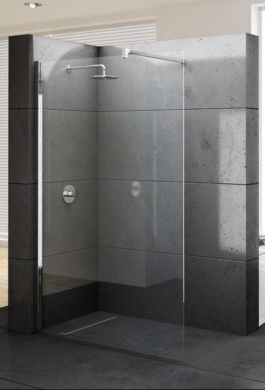 paroi de douche fixe kuadra h 140 meuble de salle de bain douche. Black Bedroom Furniture Sets. Home Design Ideas