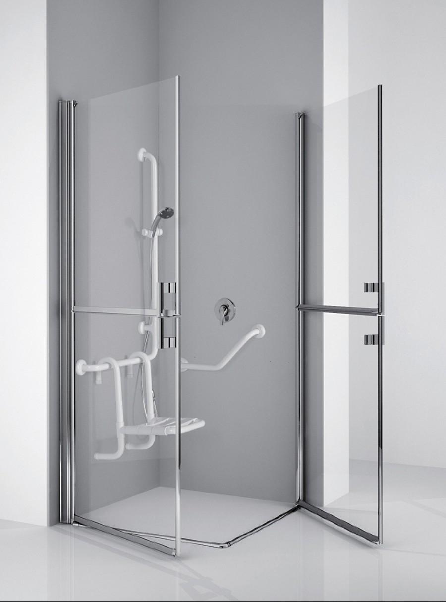 paroi d 39 angle handicap free 1 2g 90 x meuble de salle de bain douche baignoire. Black Bedroom Furniture Sets. Home Design Ideas