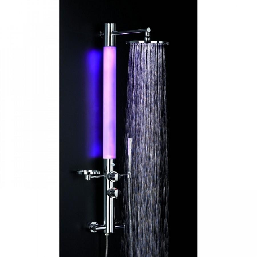 Colonne de douche avec radio et led - Colonne de douche lumineuse a led ...