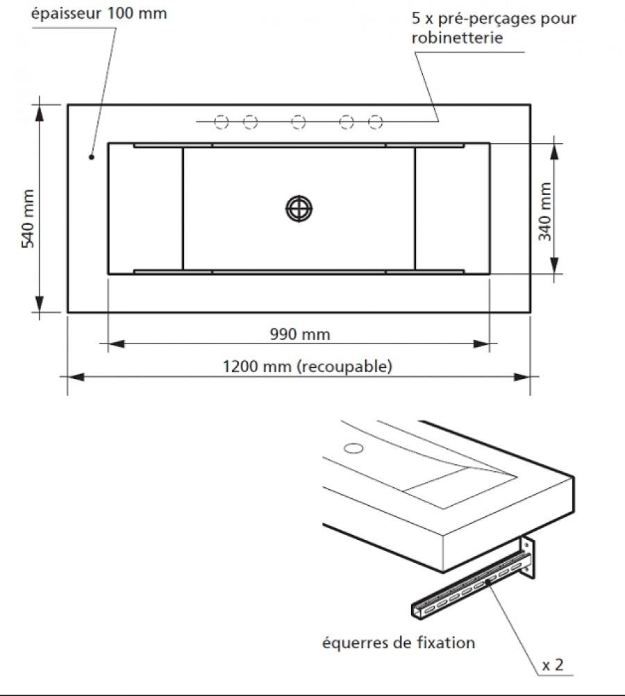 plan vasque à carreler aéro panodursanitaire.fr | meuble de salle