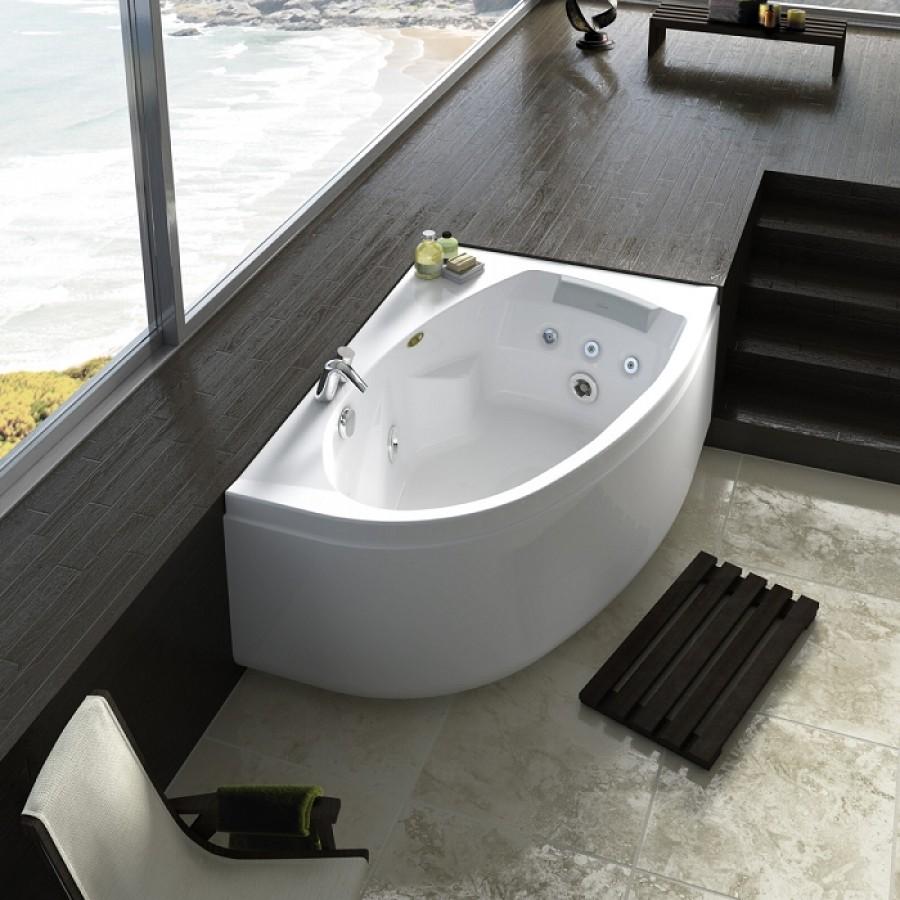 baignoire baln o d 39 angle asym trique droite avec tablier. Black Bedroom Furniture Sets. Home Design Ideas