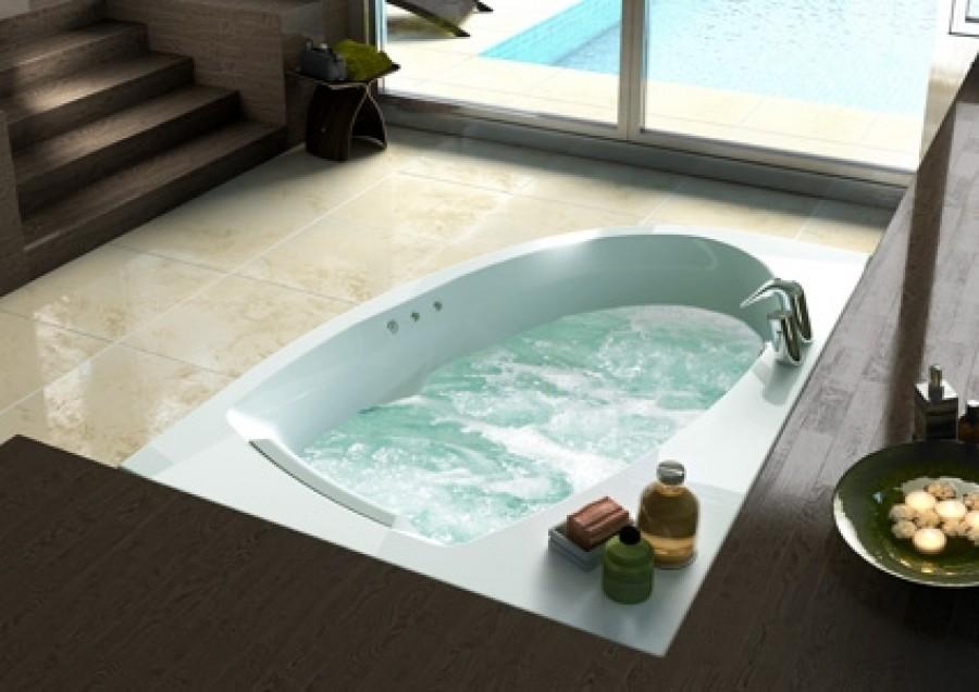 baignoire baln o d 39 angle asym trique droite sans tablier. Black Bedroom Furniture Sets. Home Design Ideas