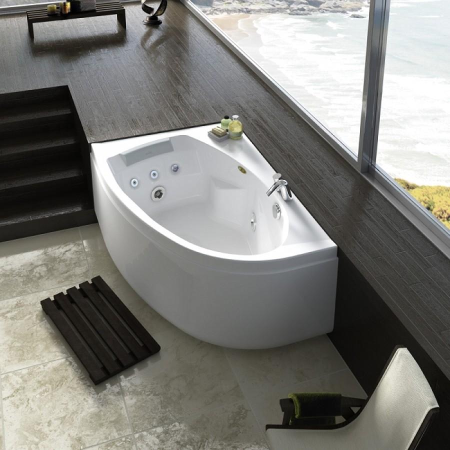 baignoire baln o d 39 angle asym trique gauche avec tablier. Black Bedroom Furniture Sets. Home Design Ideas