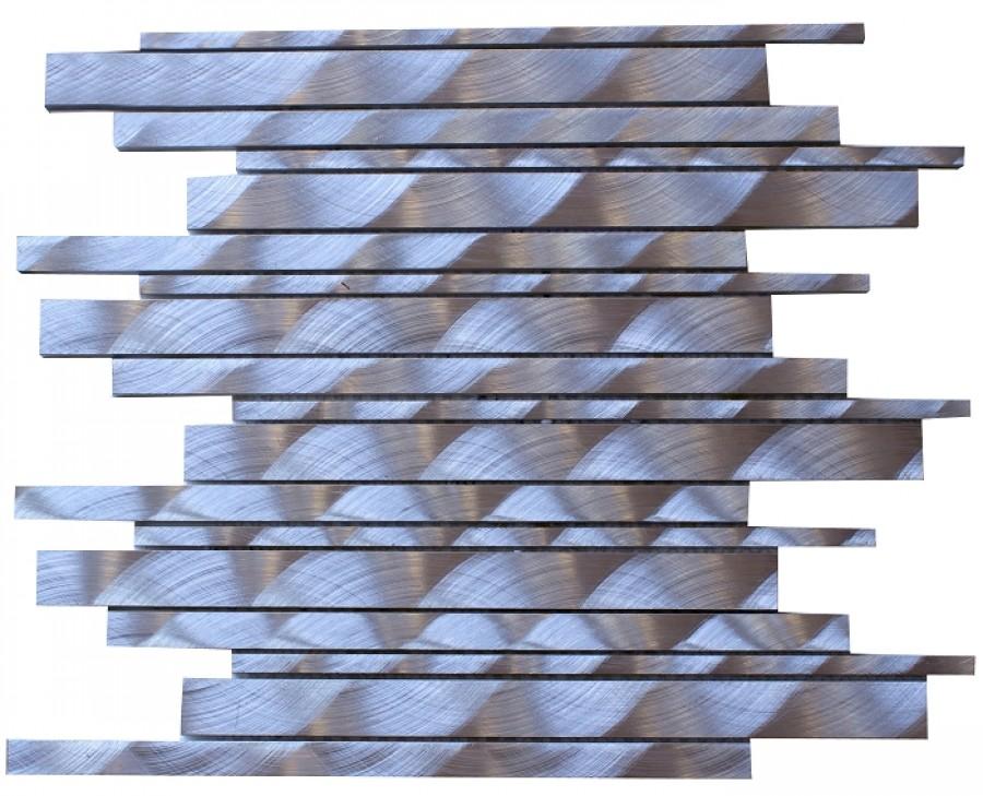 Plaque de mosaique Lyra Carrelit en Alu brossé