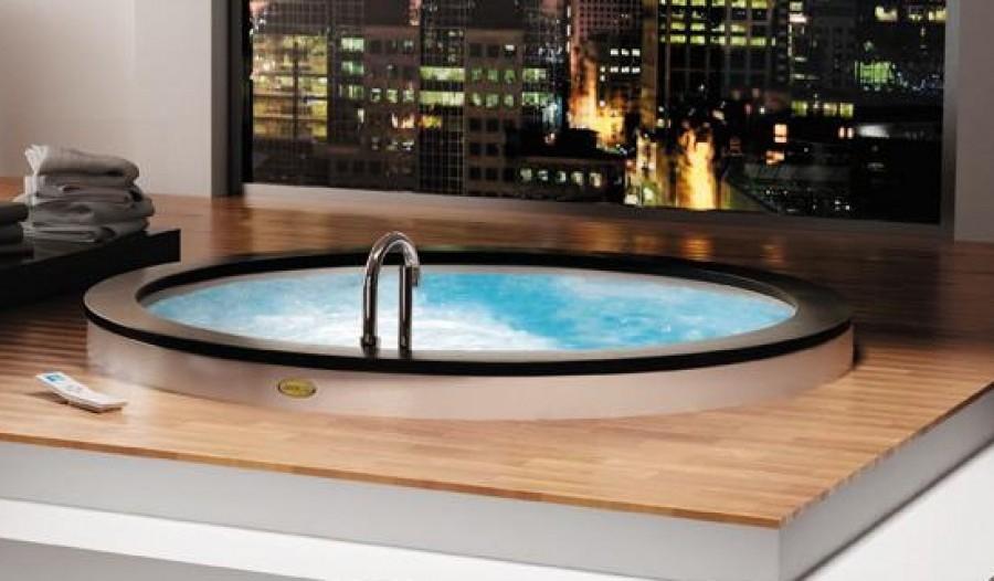 Baignoire AURA RONDE 180 cm à encastrer avec Aquasystem ...