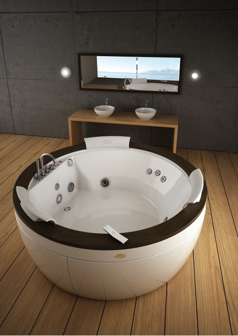 baignoire aura ronde 180 cm poser sans aquasystem jacuzzi. Black Bedroom Furniture Sets. Home Design Ideas
