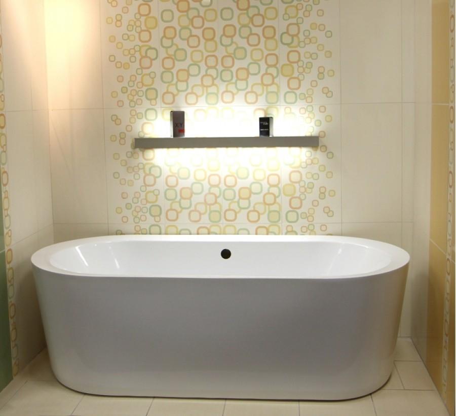 baignoire ilot ovale monobloc oleronsanitaire.fr | meuble de salle ... - Salle De Bain Baignoire Ilot