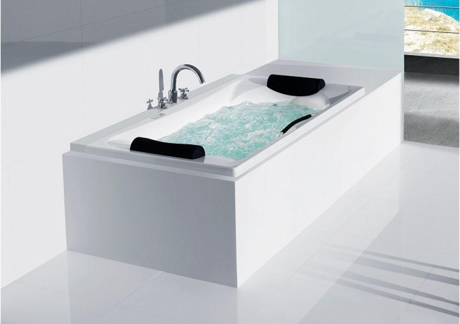 baignoire double tete becool a encastrer 190x110 meuble de salle de bain. Black Bedroom Furniture Sets. Home Design Ideas