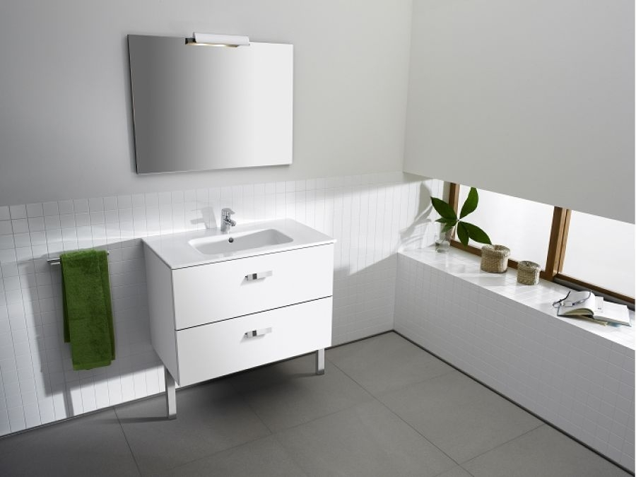 Meuble simple vasque unik victoria blanc 80cm for Colonne salle de bain unik victoria