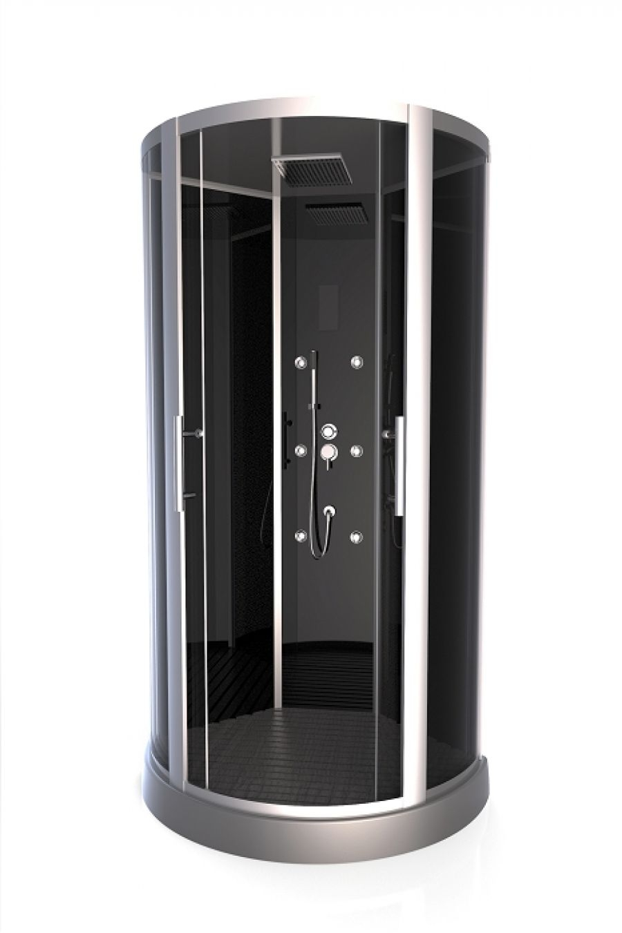 cabine de douche 1 4 rond premium round 95cm meuble de salle de bain. Black Bedroom Furniture Sets. Home Design Ideas