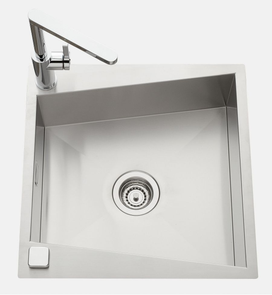 evier de cuisine inox 1 cuve vittoria ev meuble de salle de bain douche. Black Bedroom Furniture Sets. Home Design Ideas