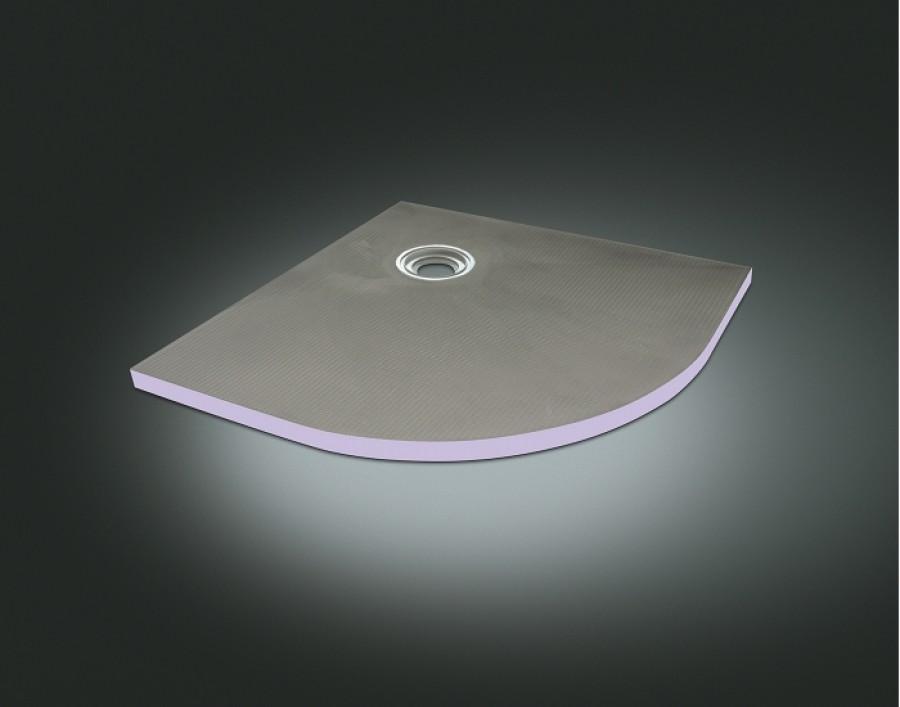 Receveur carreler 1 4 cercle 90cm jackoboard siphon horizontal meuble de - Receveur a carreler 90x90 ...