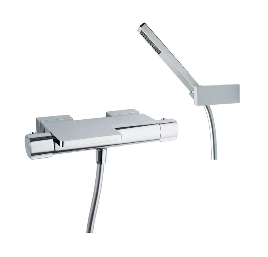 Baignoire rectangulaire nue calos 180x80 sans meuble de salle de bain - Mitigeur douche thermostatique ...