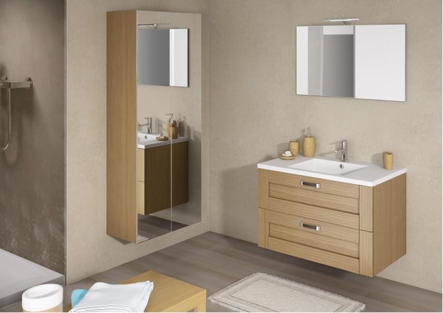 meuble simple vasque cosy 70 cm baltique naturel - Meuble Vasque 70 Cm