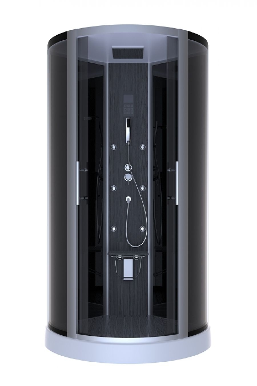cabine de douche 1 4 rond dark night hammam 95cm meuble de salle de bain. Black Bedroom Furniture Sets. Home Design Ideas