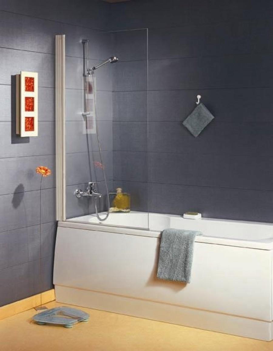 Pare baignoire pivotant 1 panneau 80x140cm npb1 meuble de sall - Panneau de baignoire ...