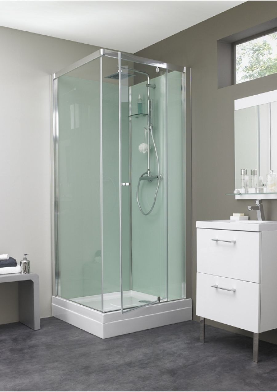 cabine de douche eden carr porte pivotante 80x80 meuble de salle de bain. Black Bedroom Furniture Sets. Home Design Ideas