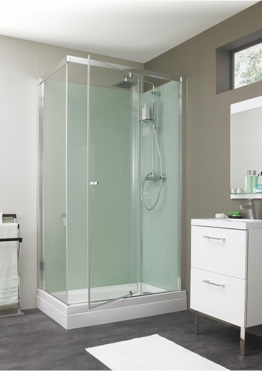 cabine de douche eden rectangle porte pivotante 100x80. Black Bedroom Furniture Sets. Home Design Ideas
