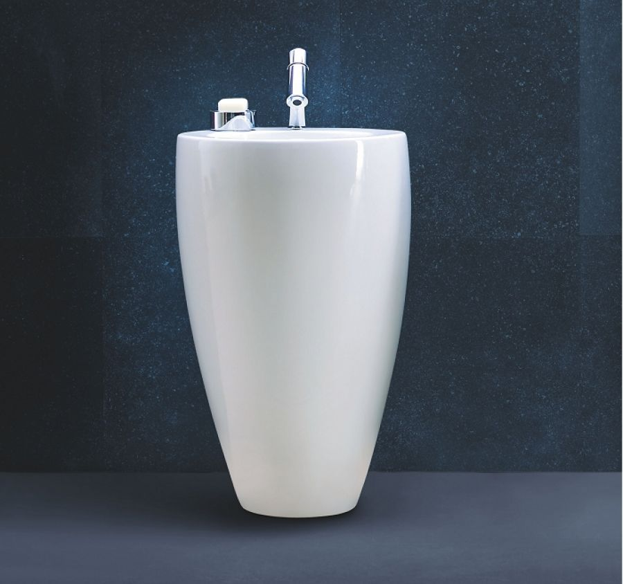 lavabo avec colonne ind pendant tam tam alessi. Black Bedroom Furniture Sets. Home Design Ideas