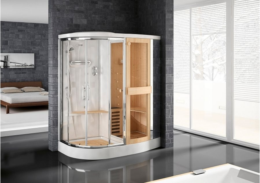 Meuble de salle de bain douche baignoire robinetterie vie - Cabine de douche sauna ...