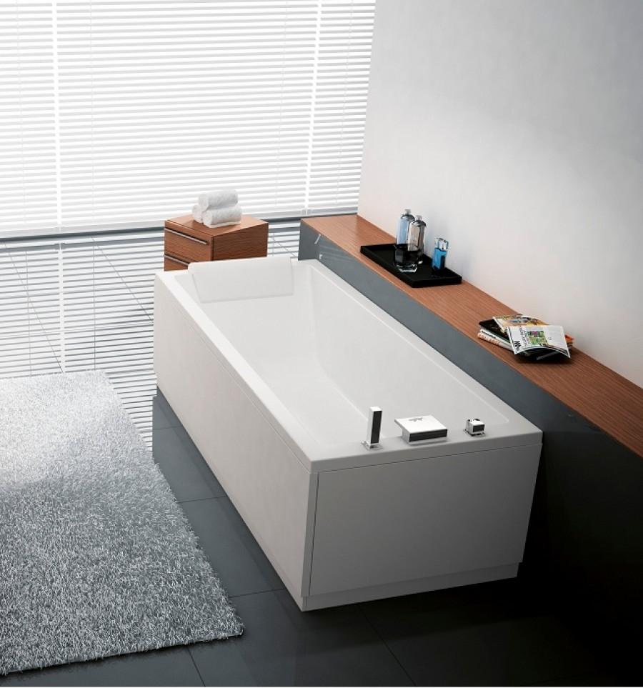 baignoire rectangulaire nue calos 180x80 avec tablier faade - Pose Baignoire Acrylique Avec Tablier