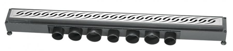 Caniveau de sol à carreler Venisio pour douche à l'italienne 700 mm - 30720839*
