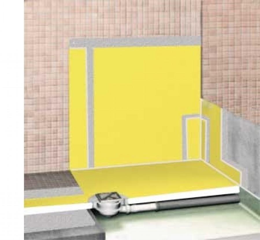 natte d 39 tanch it murale pour douche durabase wp 5 meuble de salle de bain. Black Bedroom Furniture Sets. Home Design Ideas