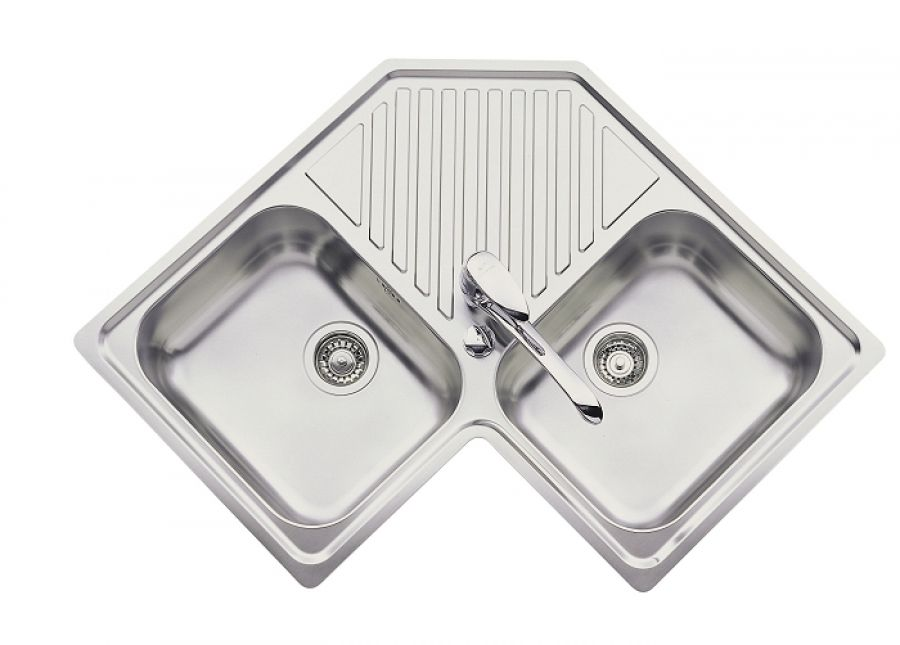 Evier De Cuisine Inox DAngle Ev  Inox LissesanitaireFr