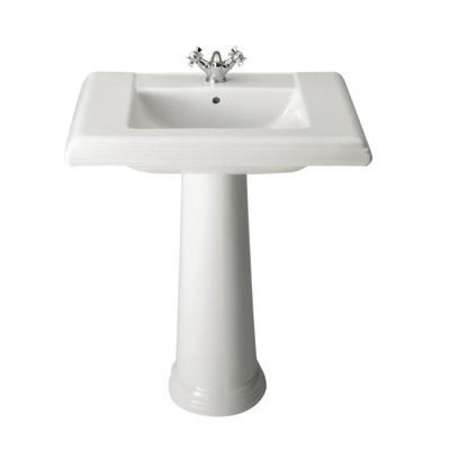 lavabo sur colonne r tro america. Black Bedroom Furniture Sets. Home Design Ideas